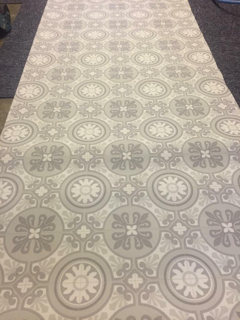 Patterned Vinyl Flooring Flooring Ideas And Inspiration - Grey patterned vinyl floor tiles