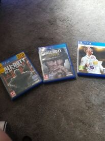 Ps4 games for sale fifa 18 call of duty ww2 and black ops 3 £40