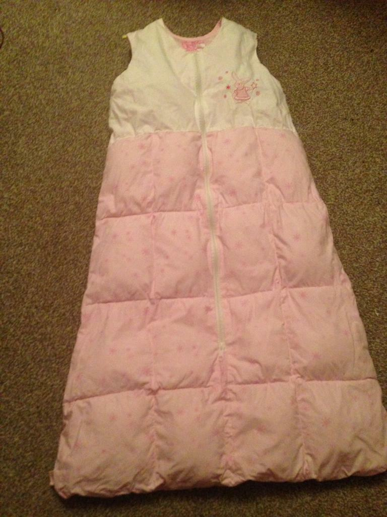 Quilted baby sleeping bag