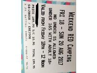 V FESTVIAL RED CAMPING WEEKEND TICKET