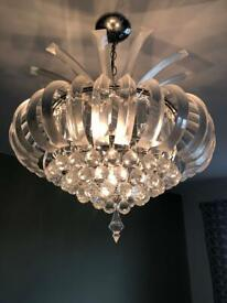 Acrylic pineapple shaped chandelier