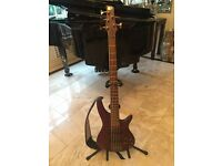 Ibanez sr505 electric bass guitar with free strap and bag