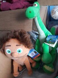 Soft toys the good dinosaur