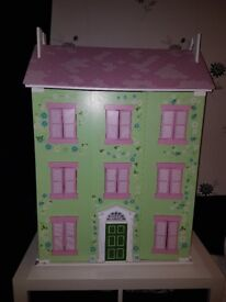 Beautiful Wooden Childs Dolls House