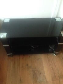 Black glass TV stand/coffee table