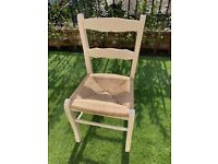 Shabby Chic Ropecord Dining Chairs x 4