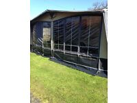 New Hampshire awning vgc. Curtains never used, size 950. £250 Ono Telephone Diane on 07842132125