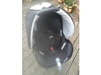 "Bebe Confort "" Streety"" Group 0 Car Seat with hood and pushchair fittings"