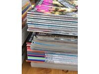 Over 100 issues of BBC Olive Foodie Magazines, 9 years complete subscription