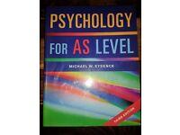 PSYCHOLOGY FOR AS LEVEL. Michael W. Eysenck. Third Edition.