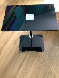 Glass Laptop or TV Dinner Table Black