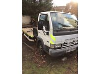 Nissan cabstar recovery truck excellent workhorse drives 100%. No faults very reliable