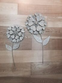 Next metal wall flowers