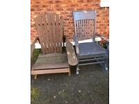Wooden Garden Chairs. £55 for the three.