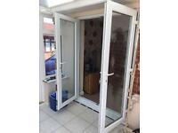 Double patio doors