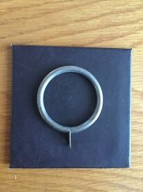 Brass effect curtain rings