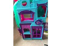 Littlest Pet Shop roller ball house and characters