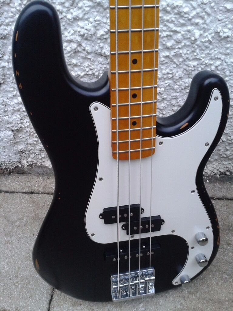 Esp Bass Pickups : esp ltd vintage 204 bass guitar distressed look with pj pickups and maple neck in prestwick ~ Vivirlamusica.com Haus und Dekorationen