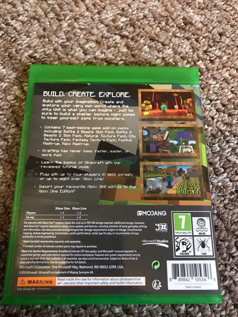 Minecraft Xbox one edition | in Neath, Neath Port Talbot | Gumtree