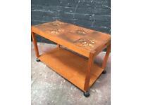 Fabulous mid century tiled top teak coffee table
