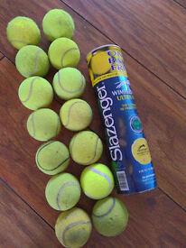 Lot of 14 Tennis Balls