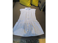 GIRLS GINGHAM SCHOOL DRESSES - FROM 6-7 / 7-8 - FROM GEORGE - VGC