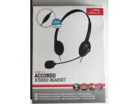 Stereo Headset with Mic — for Skype etc.