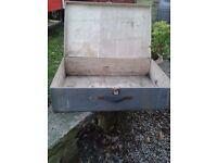 Wooden hinged tool/storage box/case
