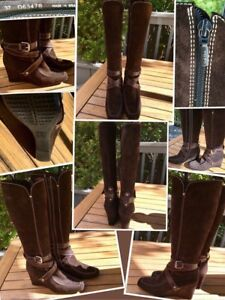 """GEOX"" LIKE NEW Dark brown suede STUNNING boots"