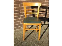 Traditional Pine Kitchen Chair with vinyl seat