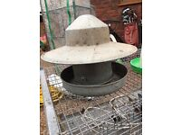 Galvanised feeder for Hens