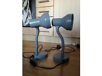 Grey Desk Lamp With Lightbulb