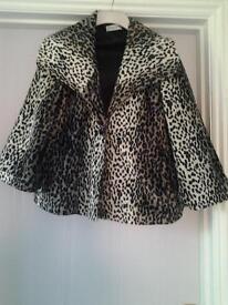 Ladies Animal print velvet jacket