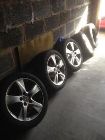 Honda alloys +tyers Dunlop make civic