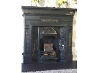 Beautiful wrought iron fireplace