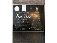 LED net Christmas tree lights with star