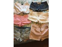 Girls shorts bundle, Ted Baker, Hollister, Top Shop, size 6