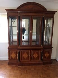 Solid oak wood dresser unit