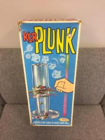 Vintage retro 60s 70s Children's game KERPLUNK by Ideal boxed rare design SDHC