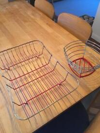 Fruit Bowl and Dish Drainer