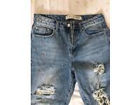 NEW!!! Ripped jeans, Boyfriend jeans, size 10, Leeds, blue jeans