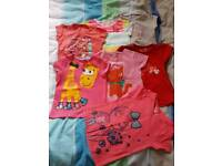 Girls summer tshirts bundle size 2-3 (up to 4 years old)