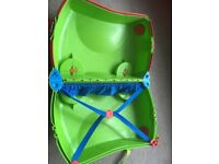 Green kids trunki suitcase