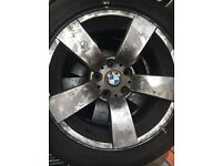 3x BMW 17 inch 5x120 alloy wheels and tyres
