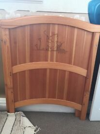 Used Winnie the Pooh cot bed
