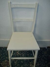 White Wooden Chair ID 504/2/18
