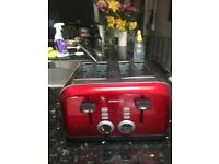 AMBIANO ELECTRIC TOASTER RED 4 SLICE