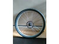 Front wheel disk brake 26 inches with tyre Schwalbe puncture protection bicycle bike