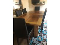 Large dining Table and 6 chairs.