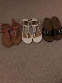 Women's sandals bundle size 5